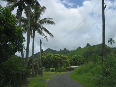 The main road, Rarotonga