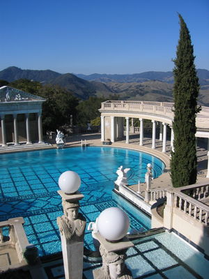 Outdoor pool at Hearst Castle