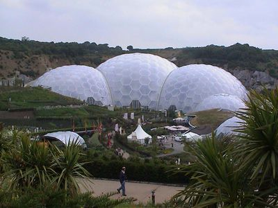 Eden Project in the rain