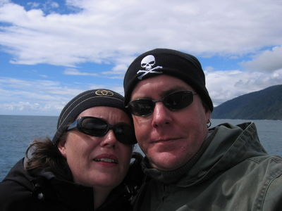 Vic & Nigel on Milford Sound